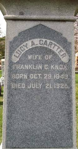 Lucy Ann <I>Cartter</I> Knox