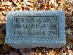 Etta <I>Evans</I> McCray