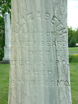 Elizabeth <I>Betts</I> Sears