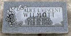 Alice Louise <I>Vincent</I> Wilmott