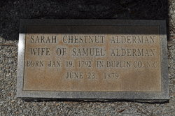 Sarah <I>Chestnut</I> Alderman
