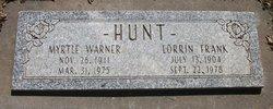 Myrtle Bernice <I>Warner</I> Hunt