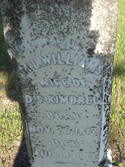"Mary L. ""Polly"" <I>Williams</I> Kimbrel"