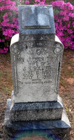 Ann Judson <I>Tubb</I> Bolling