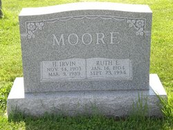 Ruth E. <I>Rohrer</I> Moore