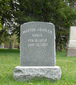 Martha J <I>Kahler</I> Davis