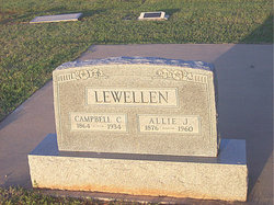 Allie Jane <I>Oliver</I> Lewellen