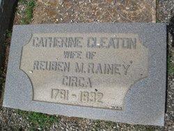 Catherine Thomas <I>Cleaton</I> Rainey