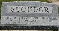 Elizabeth <I>Cripe</I> Stouder