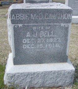 Abbie McDuffie <I>Cawthon</I> Bell