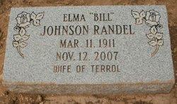 """Mrs Elma Lee """"Bill"""" <I>Johnson</I> Randel"""