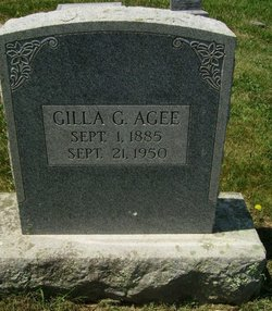 "Gilla Goldie ""Gillie"" <I>Graham</I> Agee"