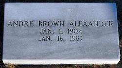 Andre Belle <I>Brown</I> Alexander