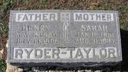 Sarah Elizabeth <I>Stanford</I> Ryder-Taylor