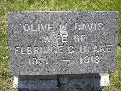 Olive W. <I>Davis</I> Blake