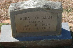 Reba <I>Coleman</I> Barbour