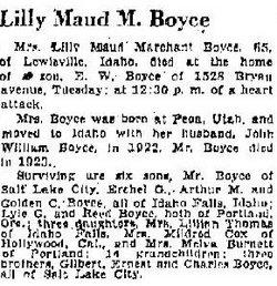Lilly Maud <I>Marchant</I> Boyce