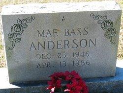 Mae <I>Bass</I> Anderson