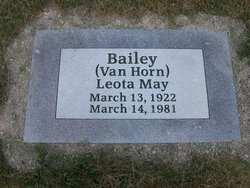 Leota May <I>Van Horn</I> Bailey