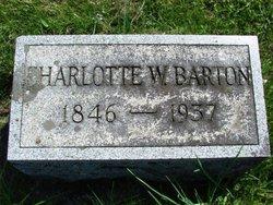 Charlotte W <I>Wilson</I> Barton