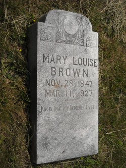 Mary Louise <I>Sales</I> Brown