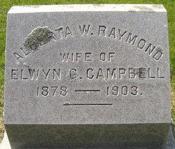 Alberta W <I>Raymond</I> Campbell