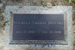 Mildred Grace <I>Formby</I> Mattox