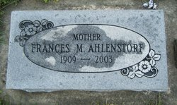 Frances Mildred <I>Roman</I> Ahlenstorf