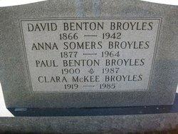 Clara <I>McKee</I> Broyles