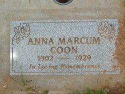 Anna <I>Marcum</I> Coon