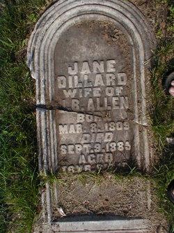 Jane <I>Dillard</I> Allen