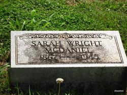 Sarah <I>Wright</I> McDaniel