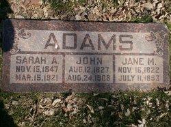 Jane <I>Merritt</I> Adams