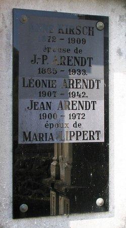 Anne <I>Kirsch</I> Arendt