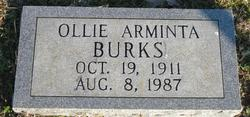 Ollie Arminta <I>Mitchell</I> Burks