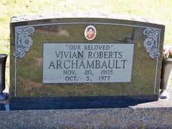 Vivian <I>Roberts</I> Archambault
