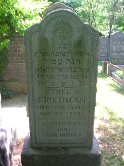Ethel <I>Waldstein</I> Friedman