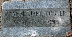 Hannah Jane <I>Ratcliff</I> Foster