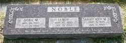 Dora <I>Moulton</I> Noble