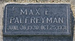 Max Edward Palfreyman