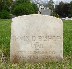 Pvt Irvin David Bishop