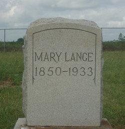"""Marie """"Mary"""" <I>Blasek</I> Lange"""