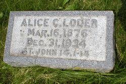 Alice C <I>Snyder</I> Loder
