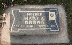 Mary Ann <I>Taylor</I> Brown