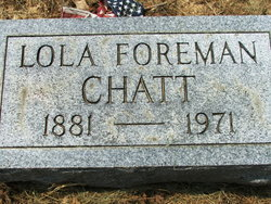 """Lola Elizabeth """"Chatty"""" <I>Foreman</I> Chatt"""