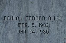 Beulah <I>Cannon</I> Allen
