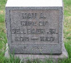 May A. <I>Peterson</I> Baer