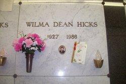 Wilma Dean <I>Hamilton</I> Hicks