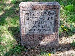 Maggie <I>Mack</I> Adams