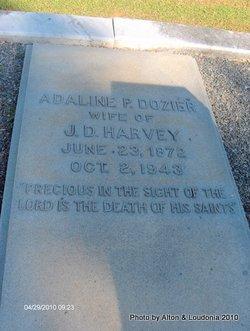 """Adaline P. """"Addie"""" <I>Dozier</I> Harvey"""